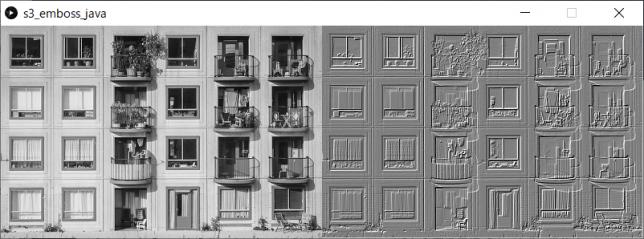 エンボス加工(左:原画像、右:変換後画像)